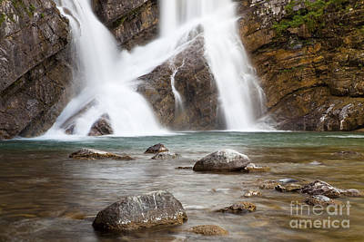 Cameron Falls In Waterton Lakes National Park Poster