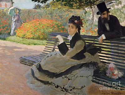Camille Monet On A Garden Bench, 1873 Poster