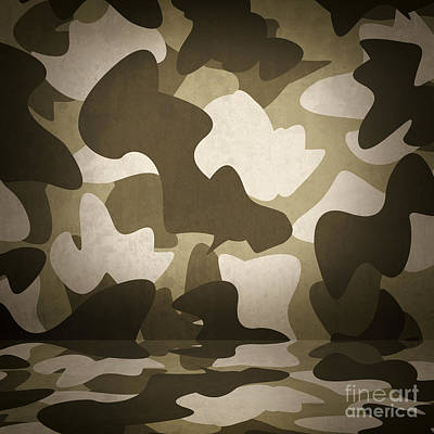 Camouflage Military Interior Background Poster