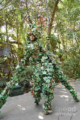Camouflaged Tree Street Performer Animal Kingdom Walt Disney World Prints Poster
