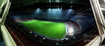 Camp Nou At Night Poster