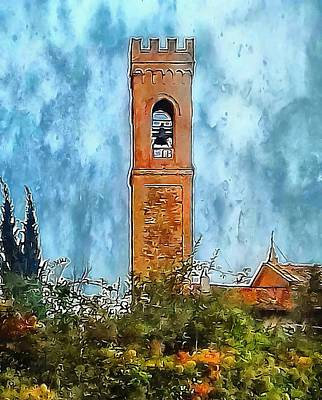 Campanile Perugia Italy Poster by Dorothy Berry-Lound