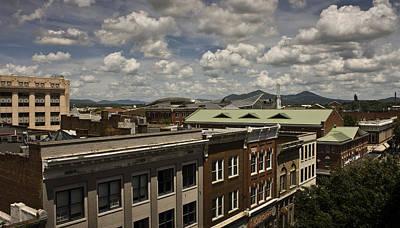 Campbell Avenue Rooftops Roanoke Virginia Poster