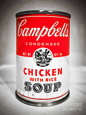 Campbells Condensed Chicken With Rice Soup 20160211 Poster by Wingsdomain Art and Photography