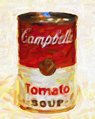 Campbells Tomato Soup Poster by Wingsdomain Art and Photography
