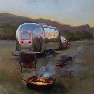 Campfire At Palo Duro Poster