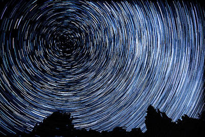 Campground Star Trails Poster