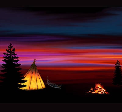 Camping Poster by Art Spectrum
