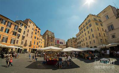 Campo Dei Fiori Market In Rome, Italy Poster