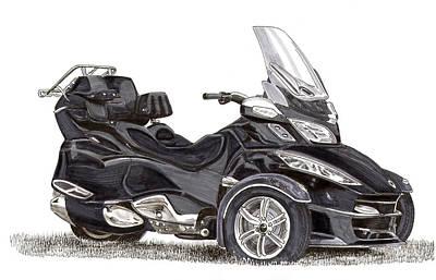 Can-am Spyder Trike Poster by Jack Pumphrey