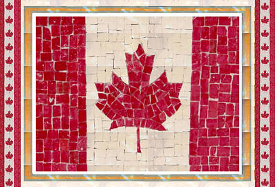 Canada Golory Decorations  Proud Canadian Flag  Artistic Version Sizes Colors And Image   Poster by Navin Joshi