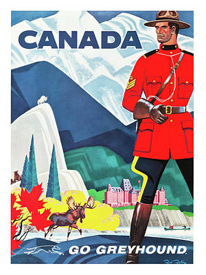 Canada Travel Poster Poster by Long Shot
