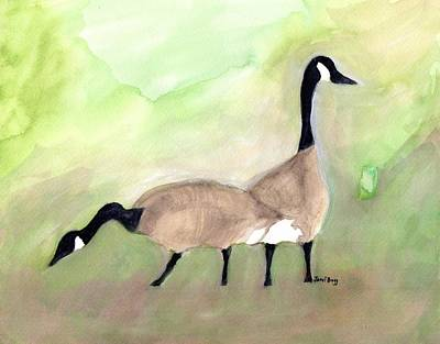 Canadian Geese At Keystone Ferry 1.5 Poster by Janel Bragg