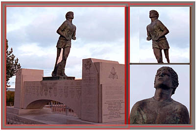 Canadian Landmark Photography Graphic Collage Terry Fox Statue Of Great Runner Who Made History Poster