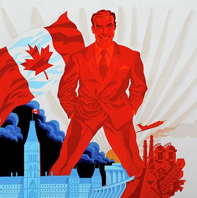 Canadian Liberal Politics Poster by Leon Zernitsky