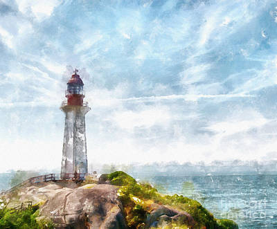 Canadian Lighthouse Poster by Shirley Stalter