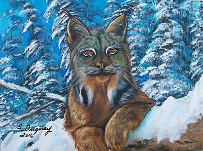 Canadian Lynx Poster by Sharon Duguay