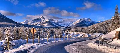 Canadian Rockies Highway Poster by Adam Jewell