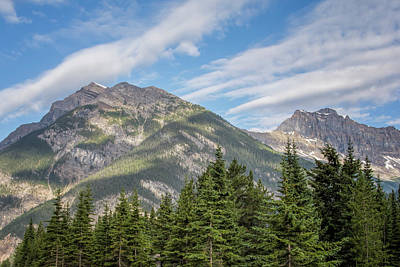 Canadian Rockies Near Kicking Horse Pass Poster by Joan Carroll