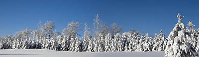 Canadian Winter Panorama Foster Quebec Poster by David Chapman