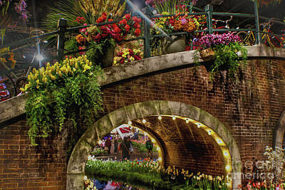 Canal And Bridge  Poster by Sandy Moulder