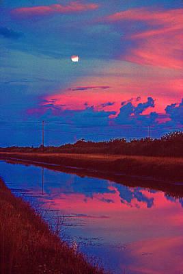 Canal Moon Poster by Bob Whitt