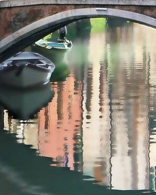 Canal Reflection San Barnaba Poster by Vicki Hone Smith