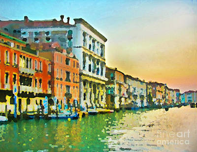 Canal Sunset - Venice Poster