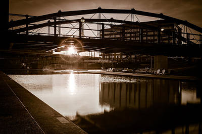 Canalside Dawn No 1 Poster