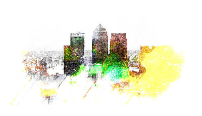 Canary Wharf London Poster by Martin Newman