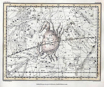 Cancer Constellation, Zodiac, 1822 Poster