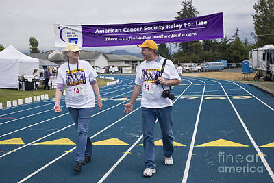 Cancer Walk Relay For Life Poster by Inga Spence