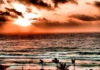 Cancun Sunrise 3 Poster