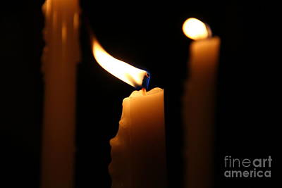 Candle Close Up Poster