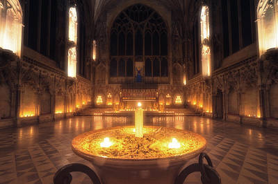 Poster featuring the photograph Candlemas - Lady Chapel by James Billings