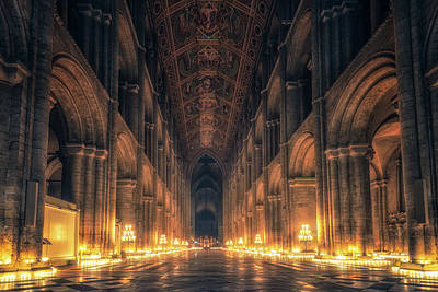 Poster featuring the photograph Candlemas - Nave by James Billings