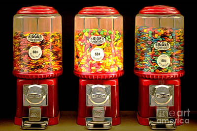 Poster featuring the photograph Candy Machines Bigger Portions 20170910 by Wingsdomain Art and Photography