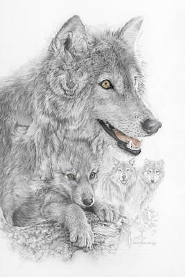 Canis Lupus V The Grey Wolf Of The Americas - The Recovery  Poster by Steven Paul Carlson