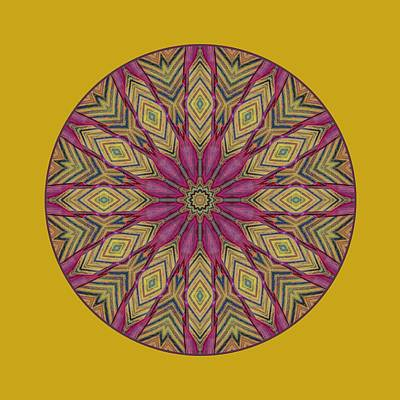 Canna Leaf - Mandala - Transparent Poster by Nikolyn McDonald