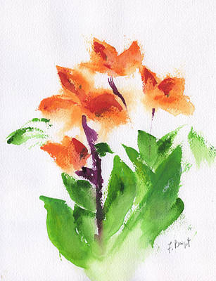 Cannas Abstract Poster by Frank Bright