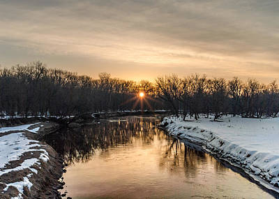 Cannon River Sunrise Poster