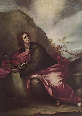 Cano Alonso St John The Evangelist On Pathmos Poster by Alonso Cano