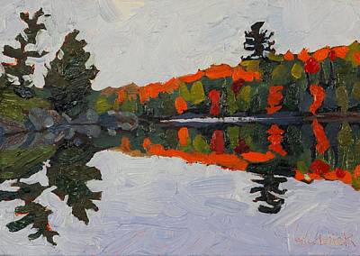 Canoe Lake Whites Poster