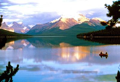 Canoe On Malign Lake Poster