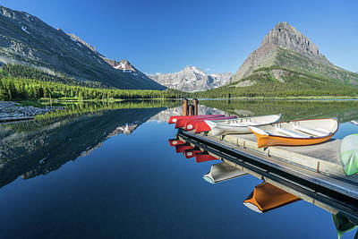 Canoe Reflections Poster by Alpha Wanderlust