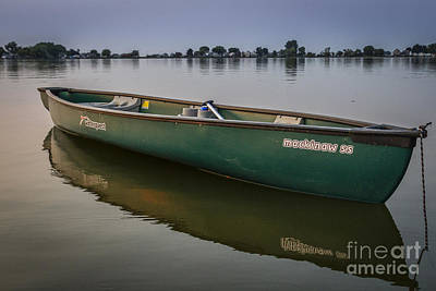 Canoe Stillness Poster