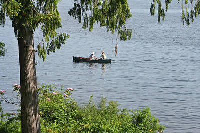Canoeing On Kitsap Lake Poster