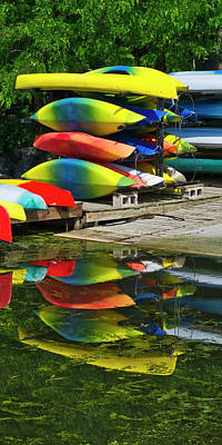 Canoes - Lake Wingra - Madison - Wisconsin Poster by Steven Ralser