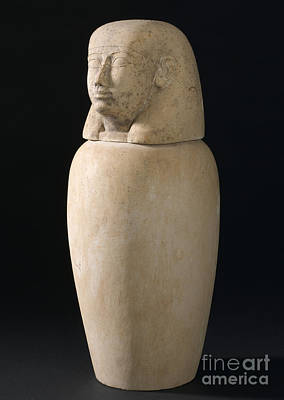 Canopic Jar, Egypt, 2000 Bce-100 Ce Poster by Wellcome Images