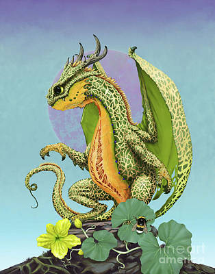 Cantaloupe Dragon Poster by Stanley Morrison